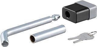 CURT 23024 Trailer Hitch Lock, Diâmetro do pino de 1,27 cm, Adaptador de 1,27 cm, Serve para receptor de 3,81 cm ou 5,08 cm