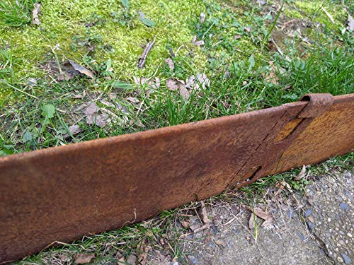 Zen Man Edelrost Garten Rasenkantenband aus Cortenstahl 2 mm Rost Gartendeko Ransenkante Rost mit Versteifungskante Beeteinfassung 10 cm hoch (10)
