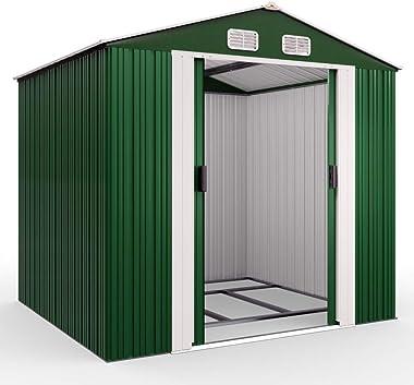 Abri de jardin en métal - 5 m² - Cabane de jardin - Rangement vélos/outils/accessoires