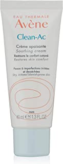 Eau Thermale Avene Clean-Ac Soothing Cream, Rich Moisturizer, Adjunctive Care for Drying Acne Treatments, 1.3 oz.