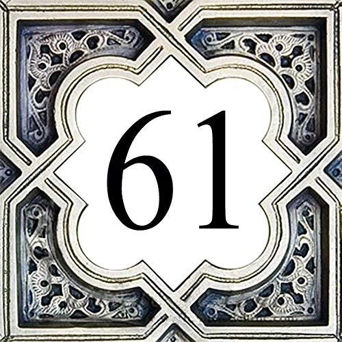 Azul'Decor35 Steingut-Hausnummernschild - Wählen Sie Ihre Nummer und die Größe Ihres Straßenschilds!