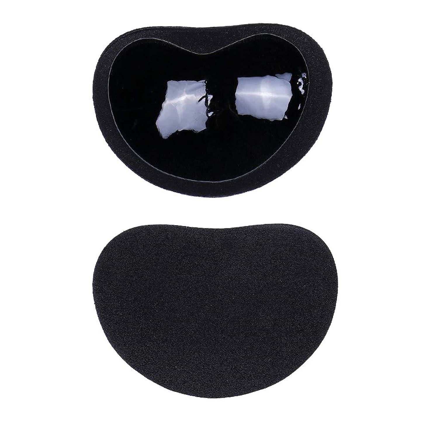 当社イブ計り知れないHealifty ニップルカバー1ペアストラップレス粘着性のある粘着性のあるブラのシリコーンのニップルは見えないブラニップルのコンシーラーのパティをカバーします(黒)