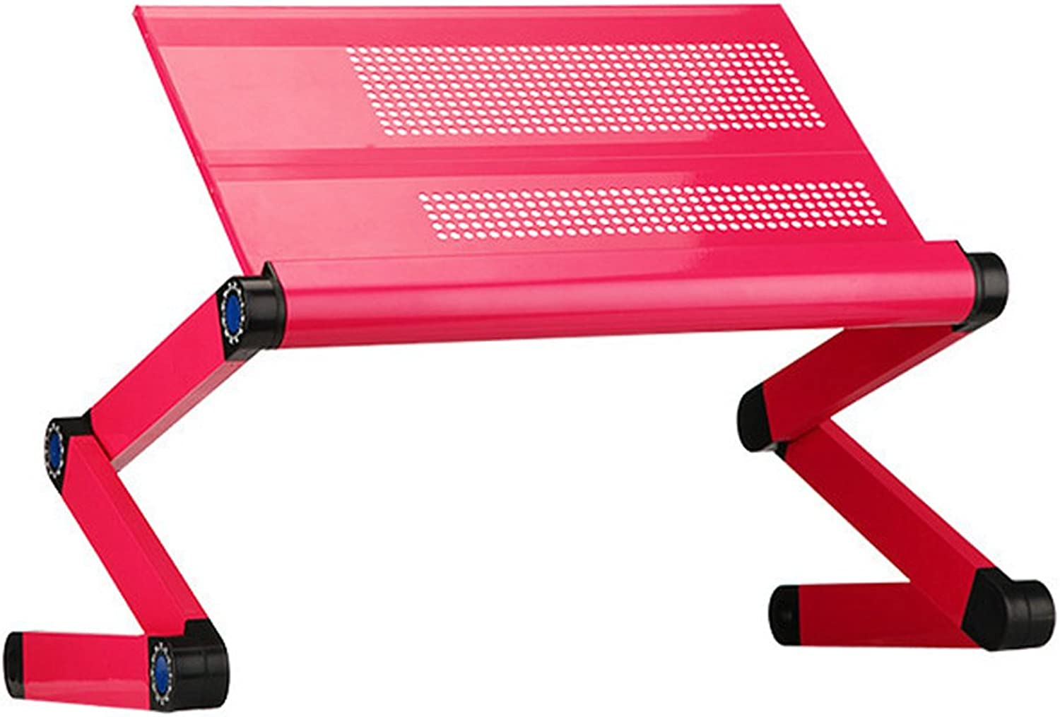 Portable Laptop Desk Adjustable Foldable Computer Stand for Home Office (Without Mouse Pad),Pink,48X24cm