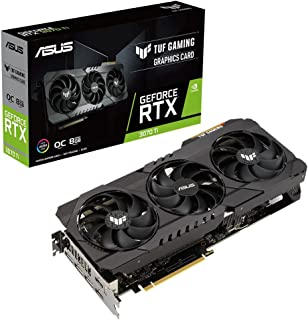 ASUS TUF Gaming NVIDIA® GeForce RTX™ 3070 Ti 搭載ビデオカード OC/ PCIe 4.0 / 8GB GDDR6X / HDMI 2.1 / DisplayPort 1.4a /デュアルボールファンベ...