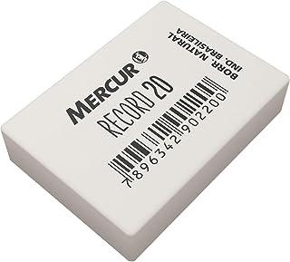Borracha, Mercur B0101004-01, Branco, Pacote de 20