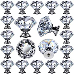 "Perfect Size: Crystal Diameter 1-1/4"" ; Base Diameter: 3/4"" ; Height: 1-1/4"" Bolt Size: diameter: 3-4 mm M4-0.7 Bolts with 1"" in length; easy to install Shinny & Elegant - Made of high quality crystal glass with chrome silver base Leaded Free - It's ..."
