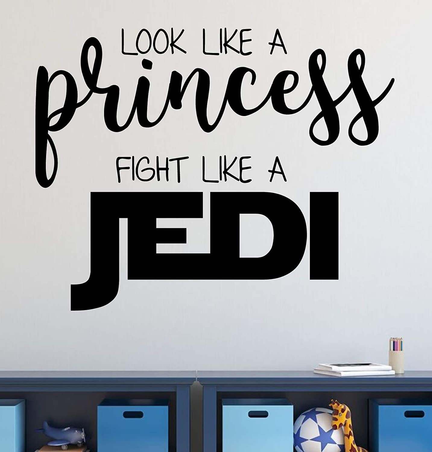 Vinyl Wall Decal for High quality new Girl's Bedroom Oakland Mall or Playroom Prin Star Wars
