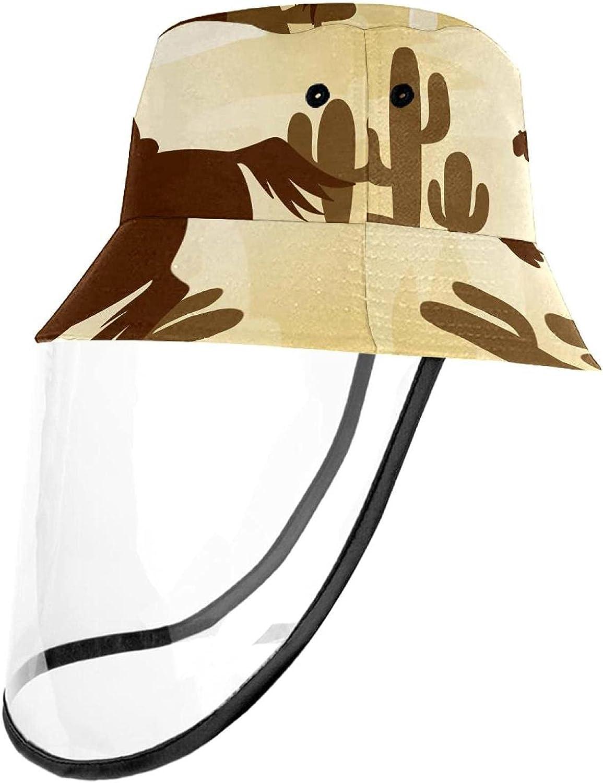 Silhouette Cowboy Riding Bucket Hat for Women & Men - UV Protection Sun Hat for Fishing, Safari, Beach, Boating & Golf