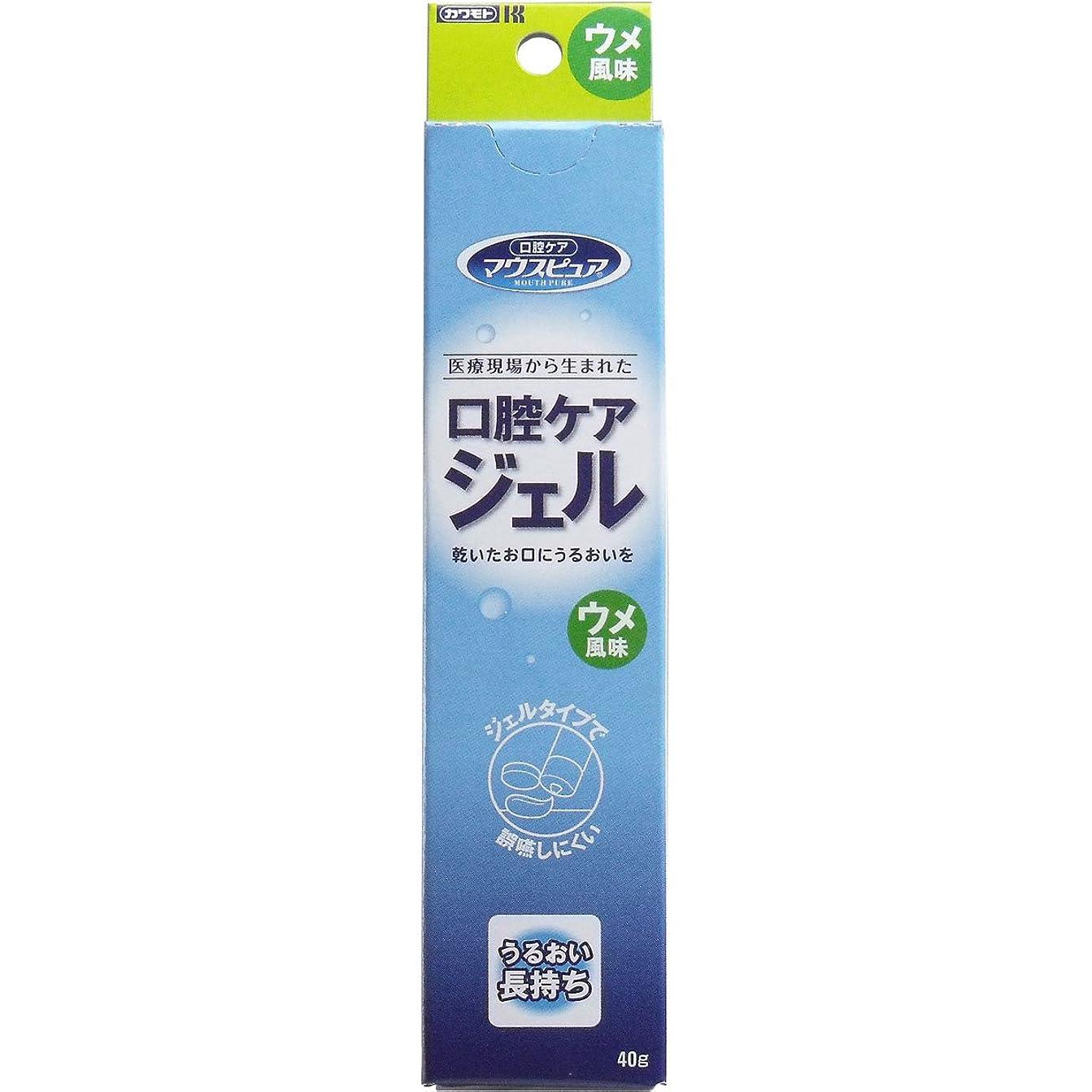 【まとめ買い】川本産業 マウスピュア 口腔ケアジェル ウメ風味 40g入【×4個】