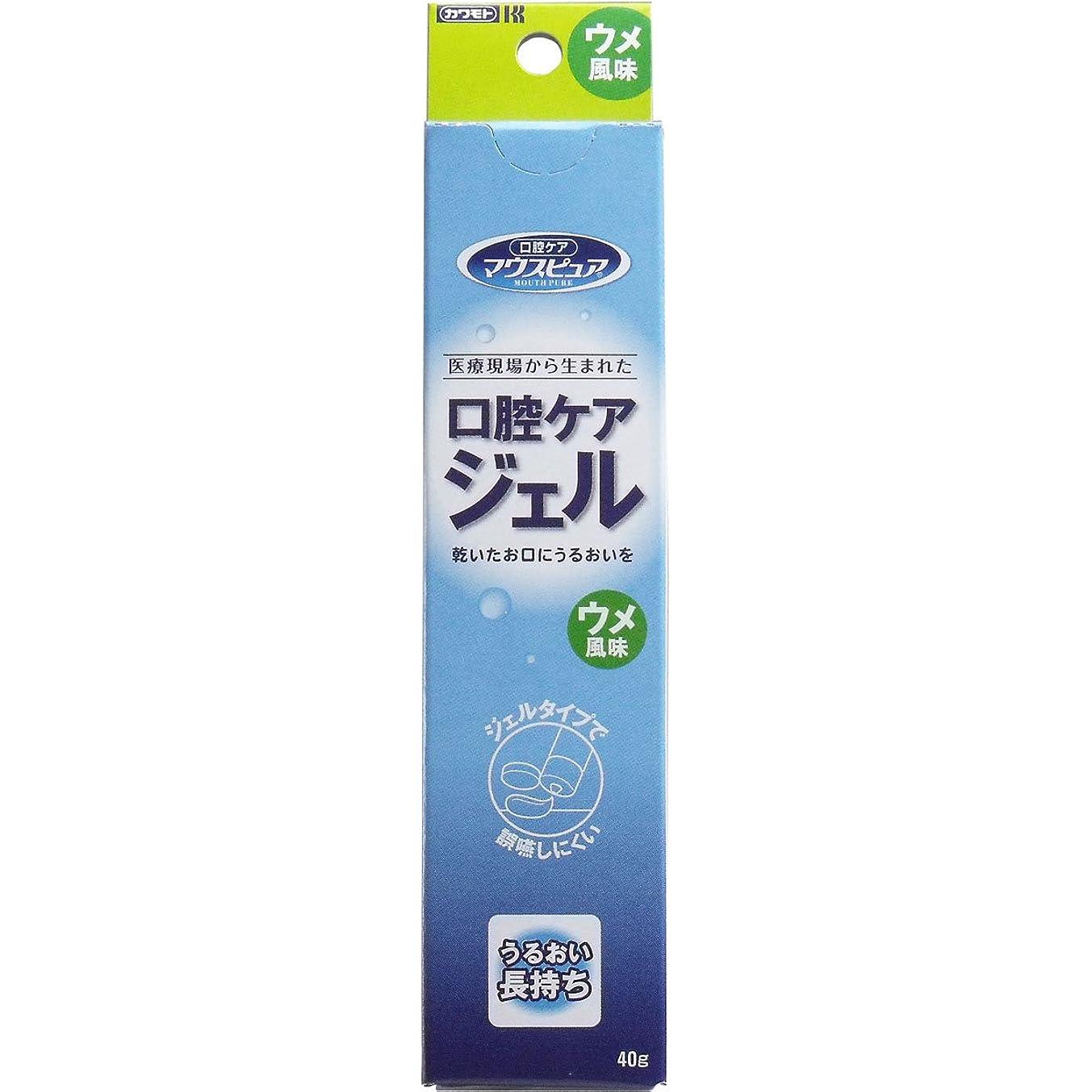 ドアメッシュ歌【カワモト】マウスピュア 口腔ケアジェル ウメ風味 40g ×10個セット