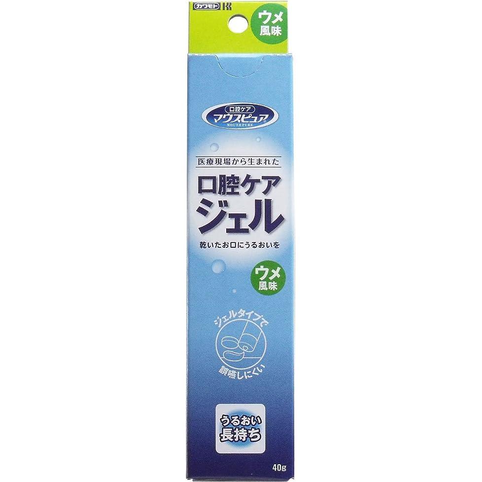 塩辛い制約ビジター【まとめ買い】川本産業 マウスピュア 口腔ケアジェル ウメ風味 40g入【×4個】