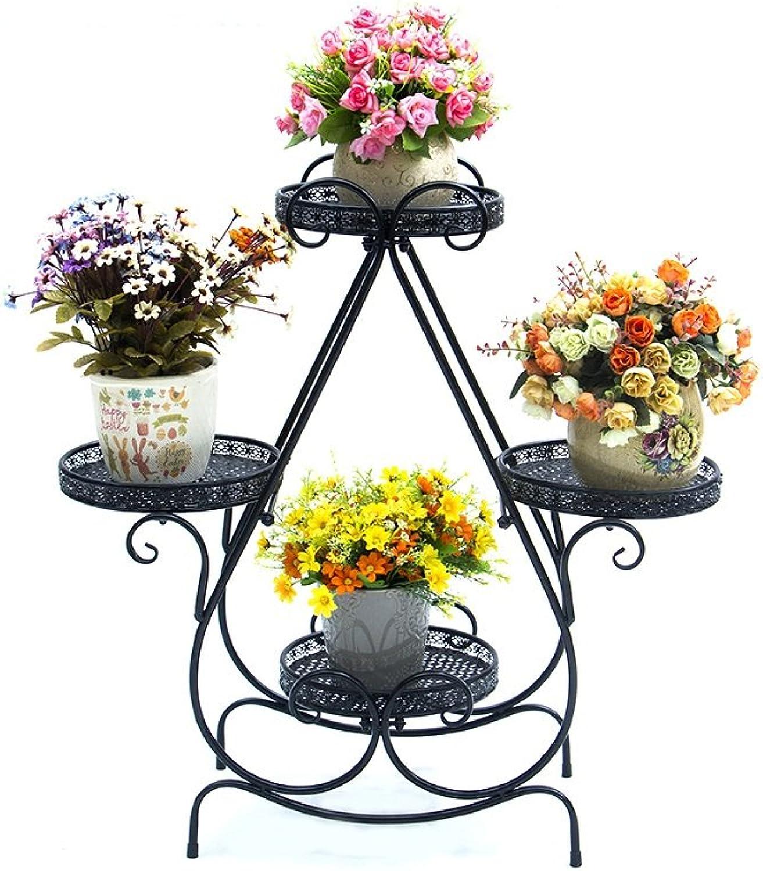 Flower racks - Iron Flower Frame Multi - Floor Floor - Style Flower Pots Living Room Balcony Indoor and Outdoor European Flower Shelf