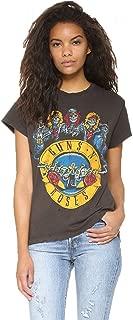 Womens Guns N Roses Print Short Sleeve Casual Ripped T-Shirt Top Tee