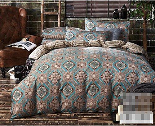 Linge de lit en coton pastoral de style européen et américain, à quatre pièces, couette classique, couvre-lit literie quatre pièces