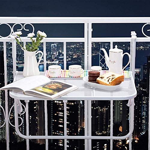 Table pliable Balcon Balustrade Suspendre Table Table pliante Table basse Petite table Petite barre d'éviter Éraflure Métal (Couleur: B) (Color : C)