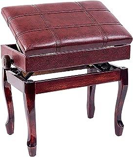 Gprice Solo stołki klawiaturowe, hydrauliczne podnoszenie trwała ławka do klawiatury z solidną konstrukcją z twardego drew...