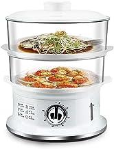 ZHGUO Cuit-vapeur électrique,Vapeur légumes Double hiérarchisé Paniers empilables avec minuterie