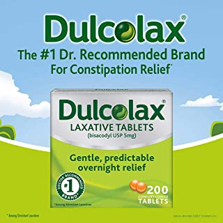 Dulcolax Stimulant Tablets 200 Count (2 Packs)
