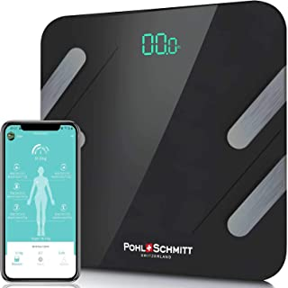 Best Pohl Schmitt Body Fat Bathroom Scale, Smart Digital Scale Tracks 13 Key Compositions, 8mm-Thick Glass, Sync with Apple Health and Google Fit, 400 lbs Review