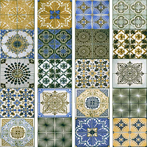 murando - PURO TAPETE selbstklebend 10m Wandtattoo dekorative Möbelfolie Dekorfolie Fotofolie Panel Wandaufkleber Wandposter Wandsticker - Mosaik Ornament f-A-0528-j-d