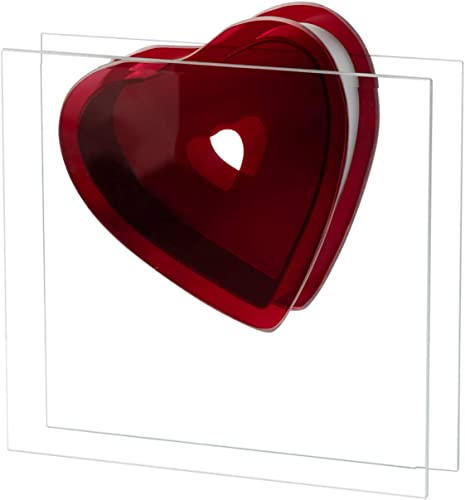 """high quality Royal Imports Flower Glass Red Heart Vase, Decorative Centerpiece, Gift for lowest Mom or Dad, Love Rose outlet sale Display, 12"""" sale"""