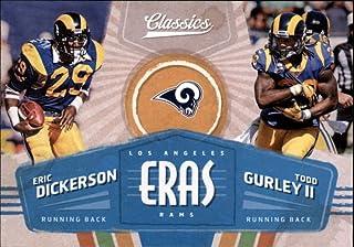2018 Panini Classics Eras #8 Eric Dickerson/Todd Gurley II LA Rams NFL Football Trading Card