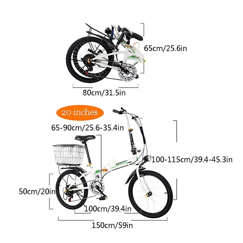 LYTLD 20 Pulgadas Bicicleta Plegable, Bicicleta para Adultos ...