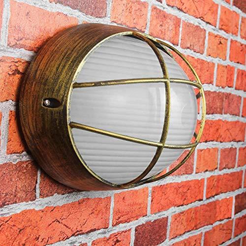 Antik Amsterdam - Lámpara de barco para exterior (casquillo E27 hasta 60 W, IP44, iluminación nostálgica)