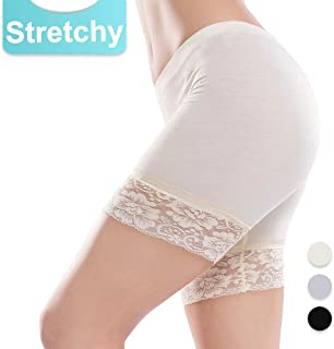 5de46da05ce Slip Shorts for Women Short Leggings Mid Thigh Legging Plus Size Lace  Undershorts