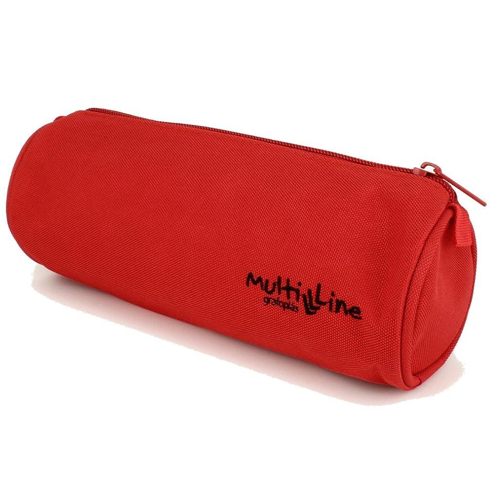 Grafoplás Multiline Pencil Cases, 30 cm, 1.41 liters, Red (rojo)