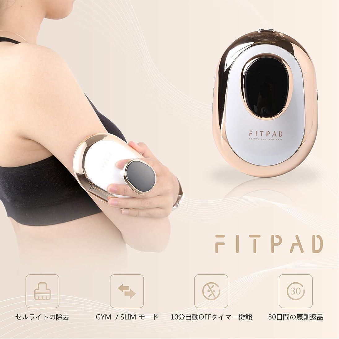 顔料王位日FITPAD 家庭用キャビテーション機器 複合中周波EMS 痩身 運動機器 健康機械 男女兼用 2種類モード 6段階強