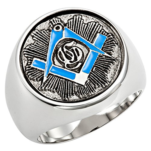 blue freemason ring