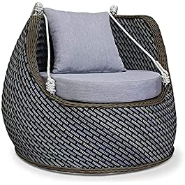 Balançoire de loisirs portable Chaise suspendue en rotin Balançoire suspendue Balançoire domestique nordique intérieure…