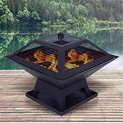 HBFJB fire pits for garden cast iron portable fire pit for camping garden large square fire pit grill fire bowls from HBFJBco