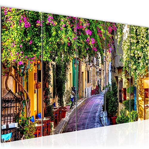 Runa Art Wandbild XXL Blumen Toskana 200 x 80 cm Bunt 5 Teilig - Made in Germany - 607755a