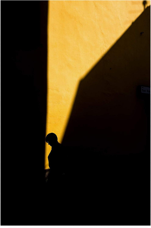 Trademark Fine Art Silhouette on Yellow by Enrico Finotti Re, 12x19