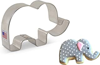 Cute Elephant Cookie Cutter - 4.13 Inch - Ann Clark - US Tin Plated Steel