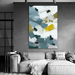 wall26 - Canvas Wall Art - Abstract Art Colorful Painting for Living Room - Modern Home Art Stretched and Framed Ready to Hang - 24x36 inches