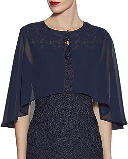 LANSITINA Chiffon Shrug Wraps for Evening Bridal Party Plus Size Soft Capes Cloaks