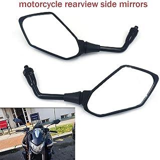 EBTOOLS Specchietto retrovisore per moto,2 pezzi Universal Handle Bar End Rearview Side Mirror CNC in alluminio