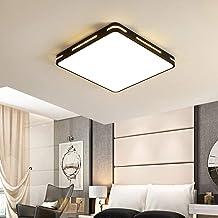 Modern Ultrathin Black LED Ceiling Light Lamp 3 Color Temperatures in One (3000k / 4000k / 6500k) LED Flush Mount Ceiling ...