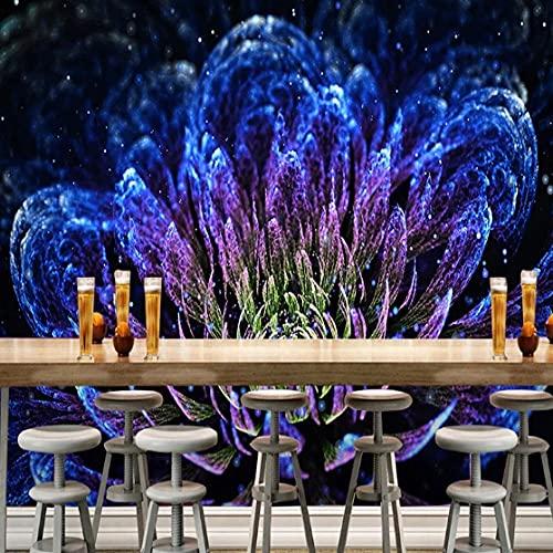 Cajgvavj Personnalisé 3D Papier Peint Moderne Abstrait Discothèque Bar Ktv Fleurs Murale Personnalité Art Fond Mur Décor Papel De Parede Fresque