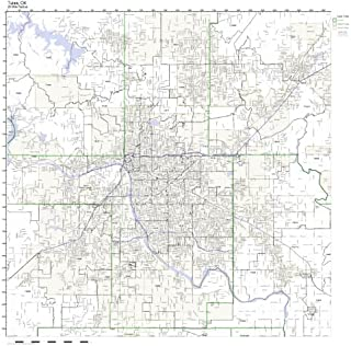 Tulsa, OK ZIP Code Map Laminated