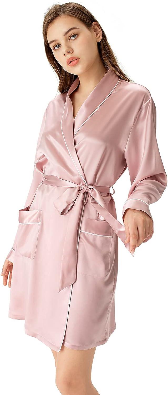 Silk Robes Max 74% Long Beach Mall OFF for Women A three-quarter Kimono R Short length