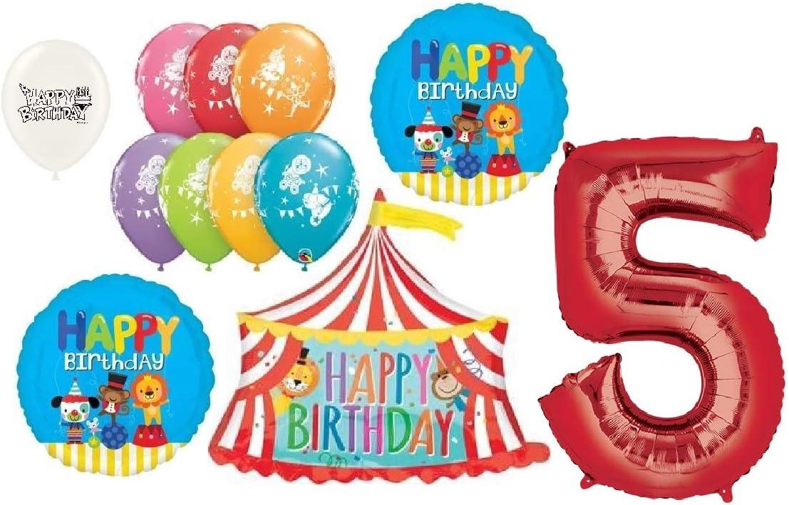 5th Birthday Circus Balloon Bundles