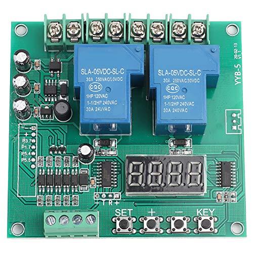 Scheda di controllo del motore, YYB-5 12v 24v Scheda di controllo del motore avanti/indietro Modulo del ciclo di temporizzazione con ritardo a due relè per il controllo dell'elettrovalvola a 2 vie,