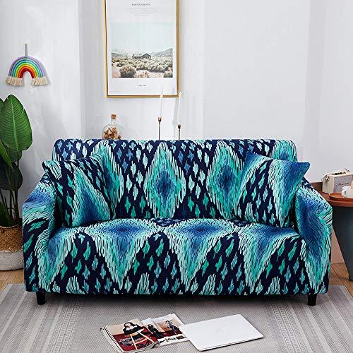Fsogasilttlv Funda Protectora para sofá 1 Plaza, Funda de sofá de algodón con Estampado Floral, Funda de Toalla, Fundas de sofá para Sala de Estar Que protegen los Muebles O