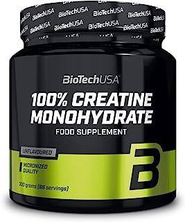 BioTechUSA 100% Creatine Monohydrate Complemento alimenticio en polvo sin sabor a base de monohidrato de creatina microniz...