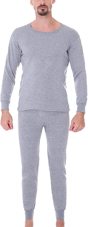 Seaoeey Men's Thermal Underwear Autumn Long Johns Thermals Set Fleece Lined