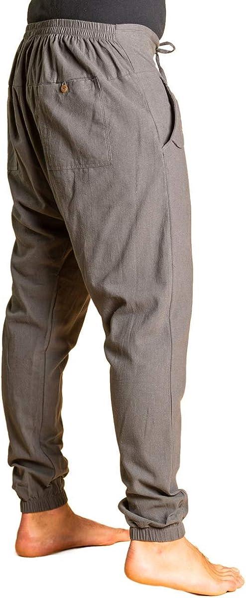 100/% Baumwolle I optimaler Sitz Dank Tunnelzug vorne /& Gummibund hinten I Sommerhose PANASIAM Yogi Pants Classic f/ür Damen /& Herren I Bequeme Freizeithose im Aladin-Harem-Style